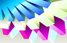 3D Colorful Geometric Lines Vector Background 05