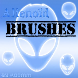 Alienoid Photoshop Brushes (ABR+PSD)