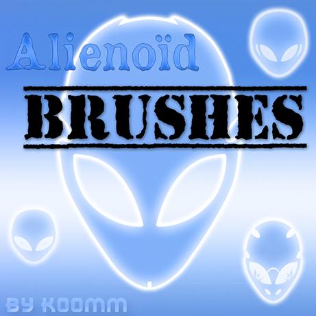 Alienoid Photoshop Brushes (ABR+PSD)