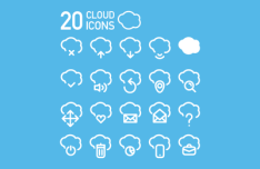 20 Cloud Icons Vector