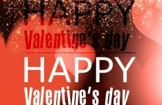 Romantic Starry Valentine's Day Background Vector
