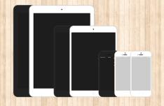 Flat iPhone 5s & iPad Templates PSD