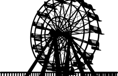 Ferris Wheel Vector Silhouette