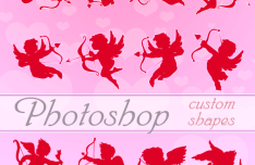 Valentine Cupids Photoshop Shapes