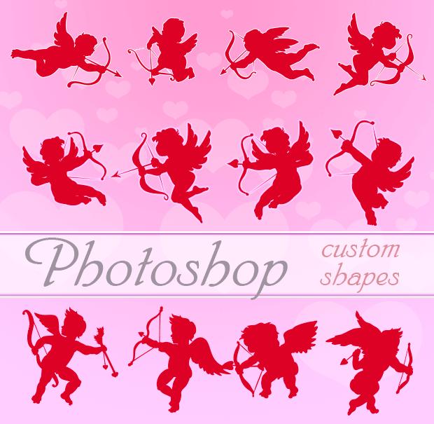 Valentine Cupids Photoshop Shapes