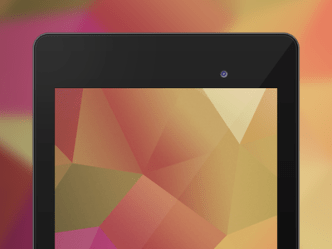 Nexus 7 with Geometry Wallpaper Template PSD