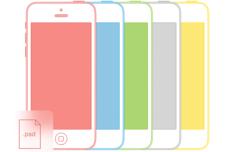 Simple iPhone 5C 5S Mockups PSD
