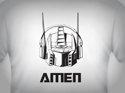 Optimus Prime T-Shirt Template Vector