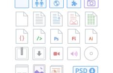 Dropbox iOS App Icons PSD