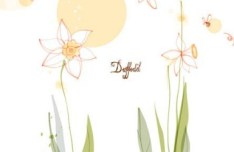 Hand Drawn Daffodil Vector Illustration