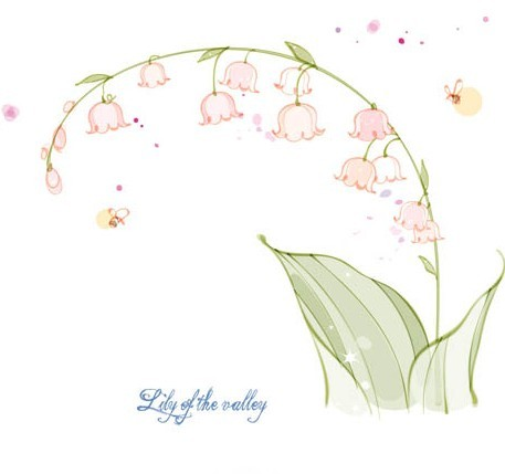 Hand Drawn Lily of The Valley Vector Illustration