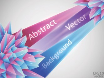 Colorful Abstract Crystals Background Vector