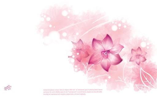 Pink Flower International Women's Day Background Vector 03