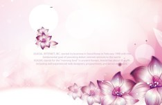 Pink Flower International Women's Day Background Vector 04