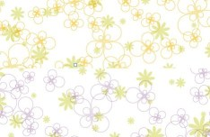 Fresh Spring Flower Patterns Vector