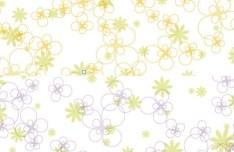 Fresh Spring Flower Patterns Vector