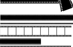 Set Of Vector Black Film Stripes