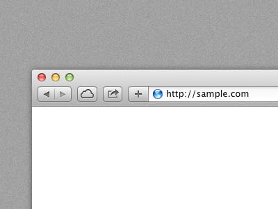 Free Safari Browser Template Psd Titanui
