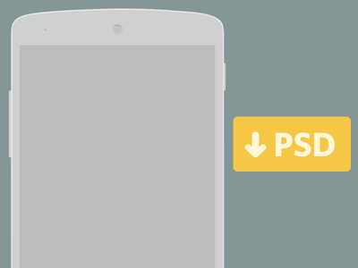 Flat Nexus 5 Wireframe PSD