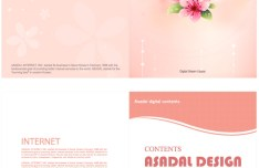 Set Of Green & Pink Brochure Cover Templates Vector