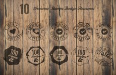 10 Awesome Stamp Badges PSD
