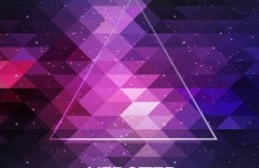 Hipster Abstract Triangles Background Vector 02