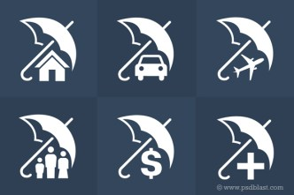 Insurance Icons Set PSD