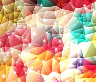 Sparkling Colorful Abstract Triangles Background Vector 01