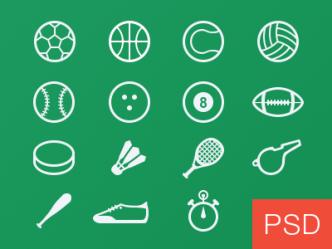 Sport Glyph Icons Vector PSD
