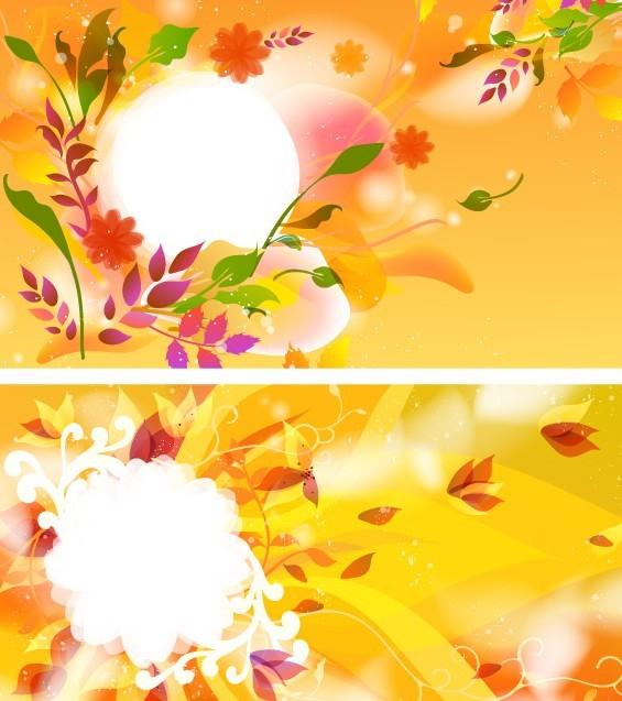 Colorful Spring Flower Frame Vector 02