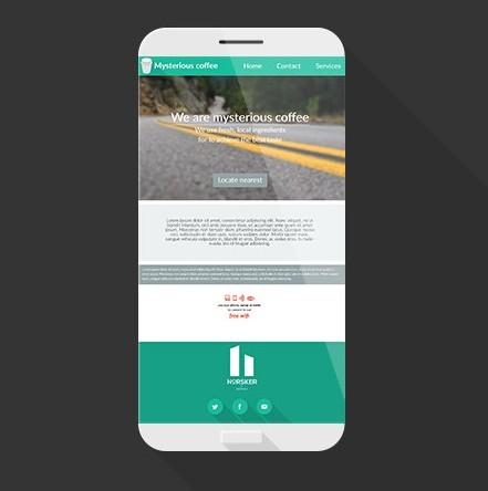 Flat Concept Mobile Phone Mockup PSD