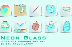 27 Neon Glass Icons For Windows & Mac