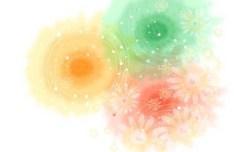 Creative Hand Drawn Watercolor Floral Vector 02