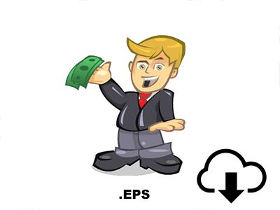 Money Boy Illustration Vector PSD