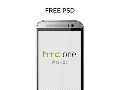 HTC ONE M8 Mockup PSD