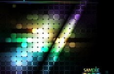 Colorful Rainbow Dots Background Vector 02