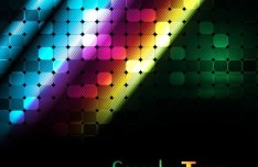 Colorful Rainbow Dots Background Vector 04