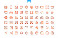 195 Outlined Vector Icons