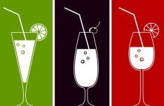 Fruit Juice Line Art Vector Illustration