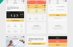 Finance App UI Kit PSD