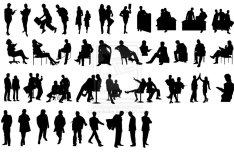 Business People Silhouettes Vector Collection