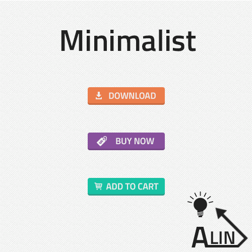 Minimalist Flat Web Buttons PSD