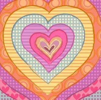 Hand Drawn Heart Pattern Vector