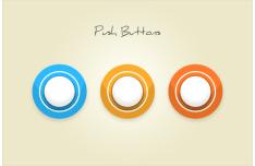 Circular Push Buttons PSD