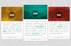 Geometry Pricing Table Design PSD