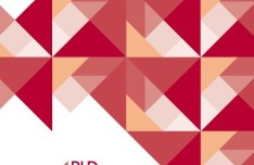 Red Abstract Triangles Background Vector