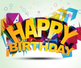 Colorful Happy Birthday Art Design Vector