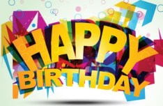 Colorful Happy Birthday Art Design Vector