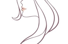 Beautiful Woman Head Vector Illustration