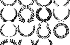 23 Wreath Designs PSD
